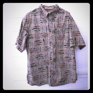5/$20 Columbia Men's L fishing theme shirt